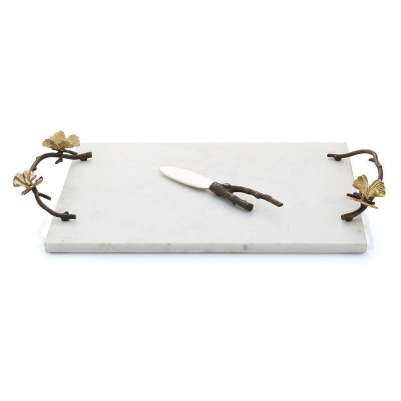 Michael Aram Butterfly Ginkgo Cheese Board w/ Knife