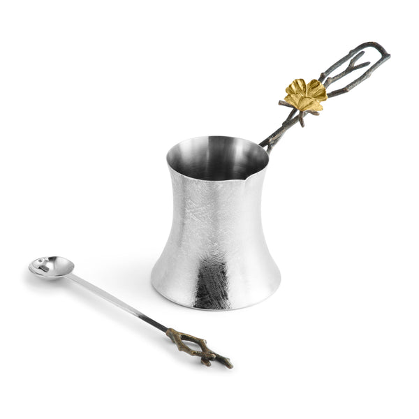 Michael Aram Butterfly Ginkgo Coffee Pot w/ Spoon