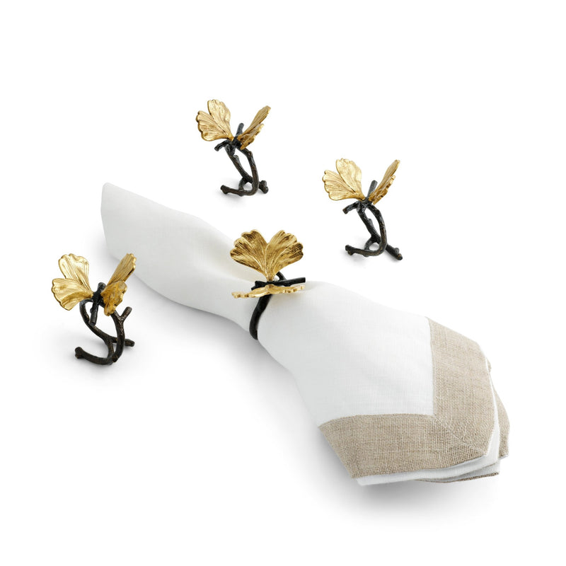 Michael Aram Butterfly Ginkgo Napkin Ring Set