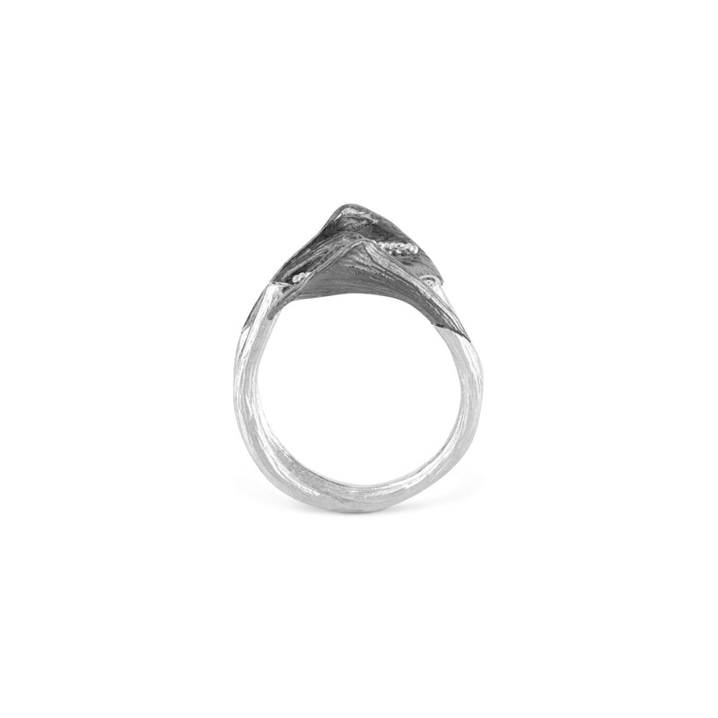 Michael Aram Calla Lily Double Ring with Diamonds