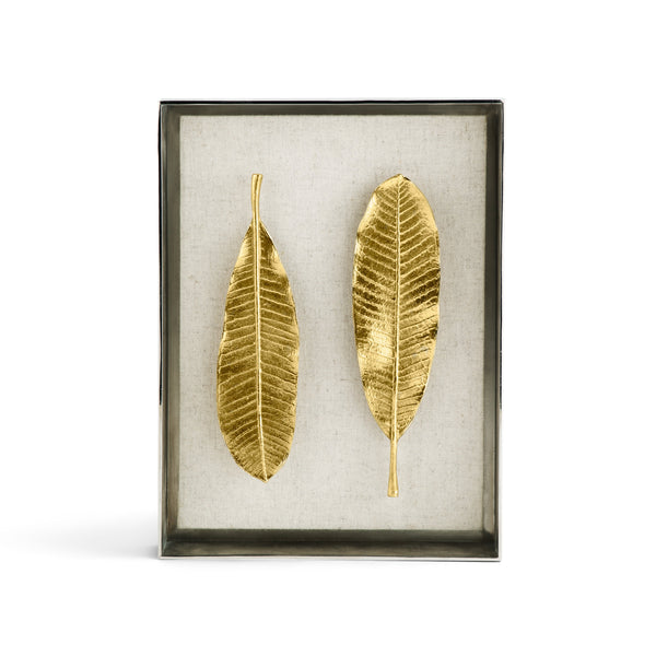 Michael Aram Champa Leaf Fabric Shadow Box