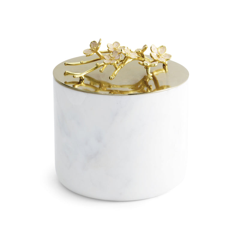 Michael Aram Cherry Blossom Large Marble Candle