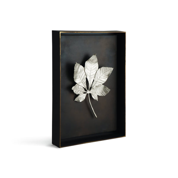 Michael Aram Chestnut Leaf Shadow Box - Antique Nickel