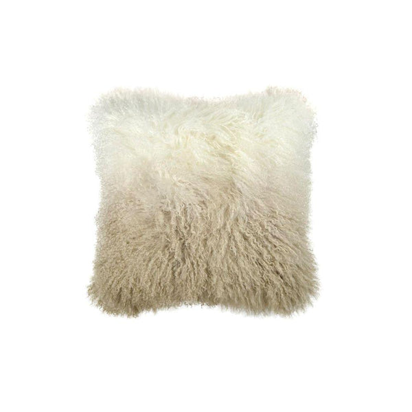 Michael Aram Dip Dye Curly Sheepskin Pillow - Golden Flax