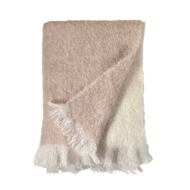 Michael Aram Dip Dye Mohair Throw - Blush