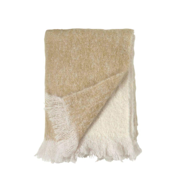 Michael Aram Dip Dye Mohair Throw - Golden Flax