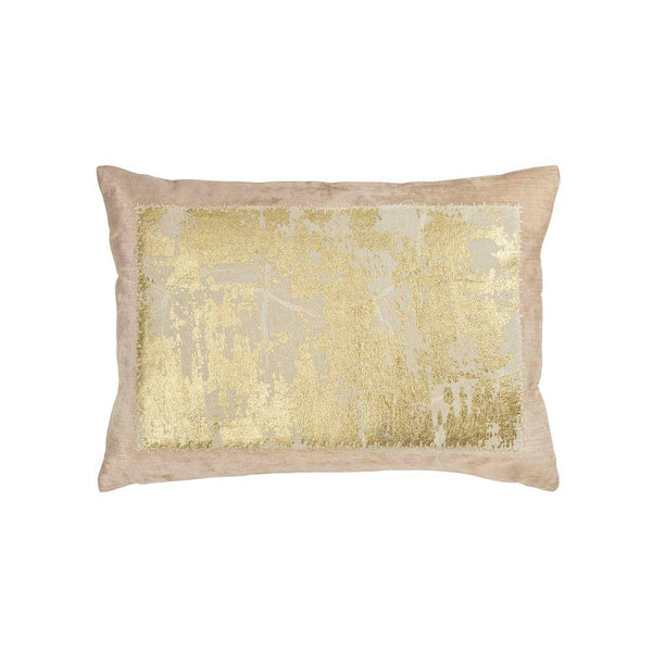 Michael Aram Distressed Metallic Lace Pillow - Blush / Gold