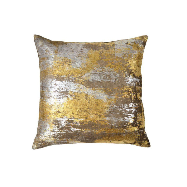 Michael Aram Distressed Metallic Velvet Print Pillow - Silver / Gold