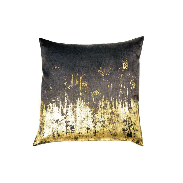 Michael Aram Distressed Metallic Viscose Print Pillow - Chocolate / Gold