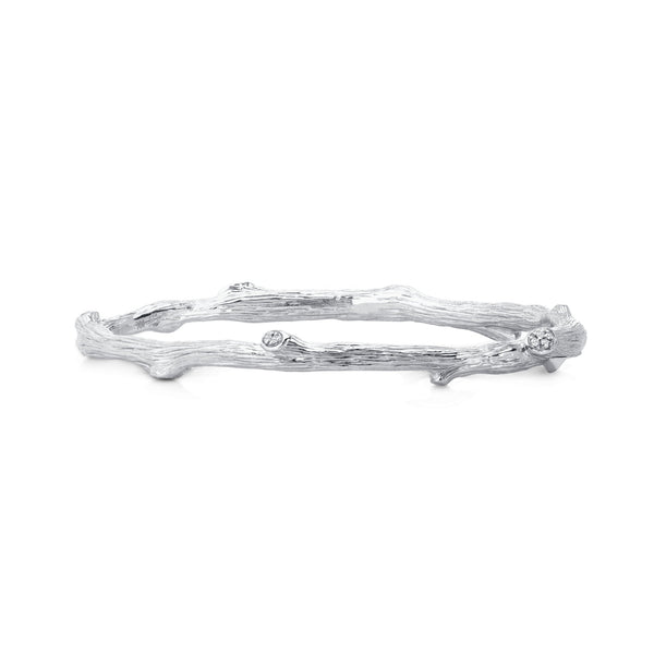 Michael Aram Enchanted Forest Bangle Bracelet with Diamonds