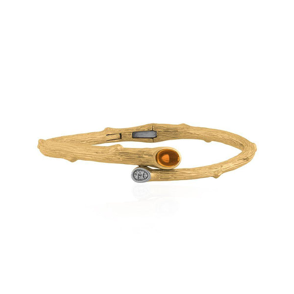 Michael Aram Enchanted Forest Bangle with Citrine & Diamonds