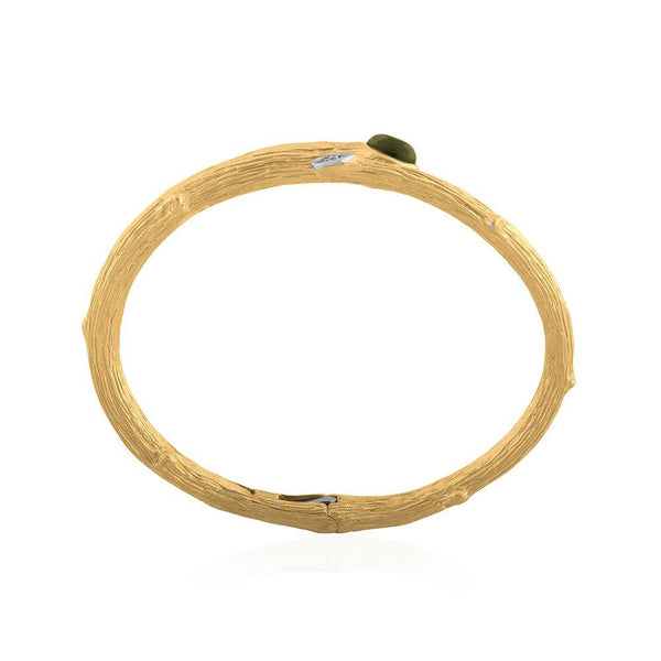 Michael Aram Enchanted Forest Bangle with Peridot and Diamonds