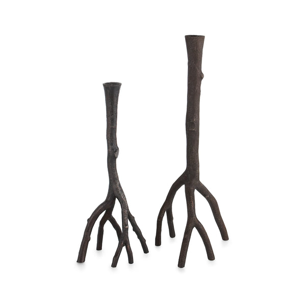 Michael Aram Enchanted Forest Candleholders Oxidized
