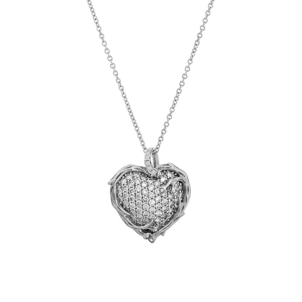 Michael Aram Enchanted Forest Heart Pendant Necklace with Diamonds