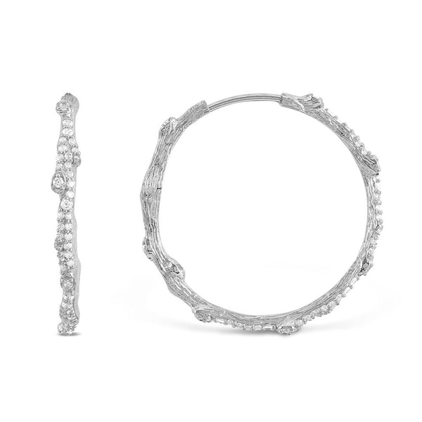 Michael Aram Enchanted Forest Hoop Earrings with Diamonds
