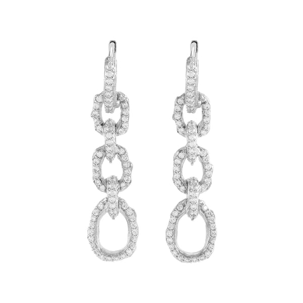 Michael Aram Enchanted Forest Link Earrings with Diamonds