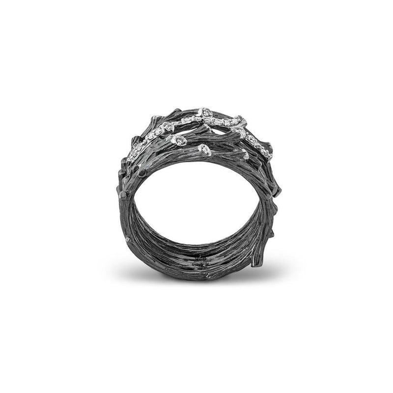 Michael Aram Enchanted Forest Multi Row Ring with Diamonds