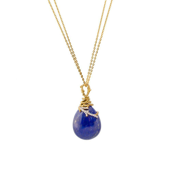 Michael Aram Enchanted Forest Pendant Necklace with Lapis and Diamonds