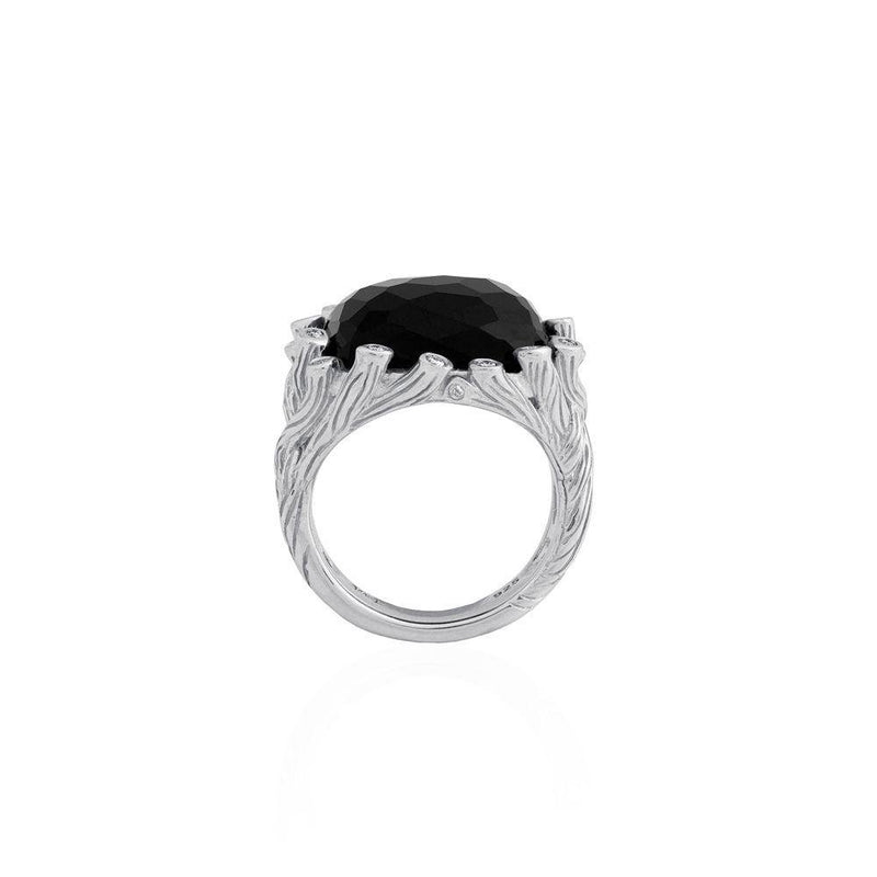 Michael Aram Enchanted Forest Ring with Black Onyx and Diamonds