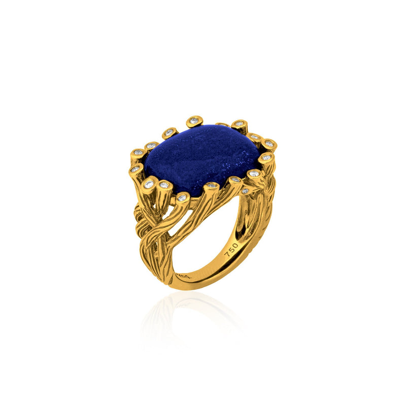 Michael Aram Enchanted Forest Ring with Lapis and Diamonds