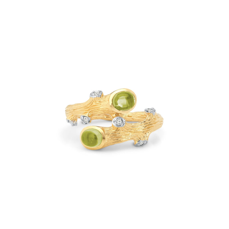 Michael Aram Enchanted Forest Ring with Peridot and Diamonds