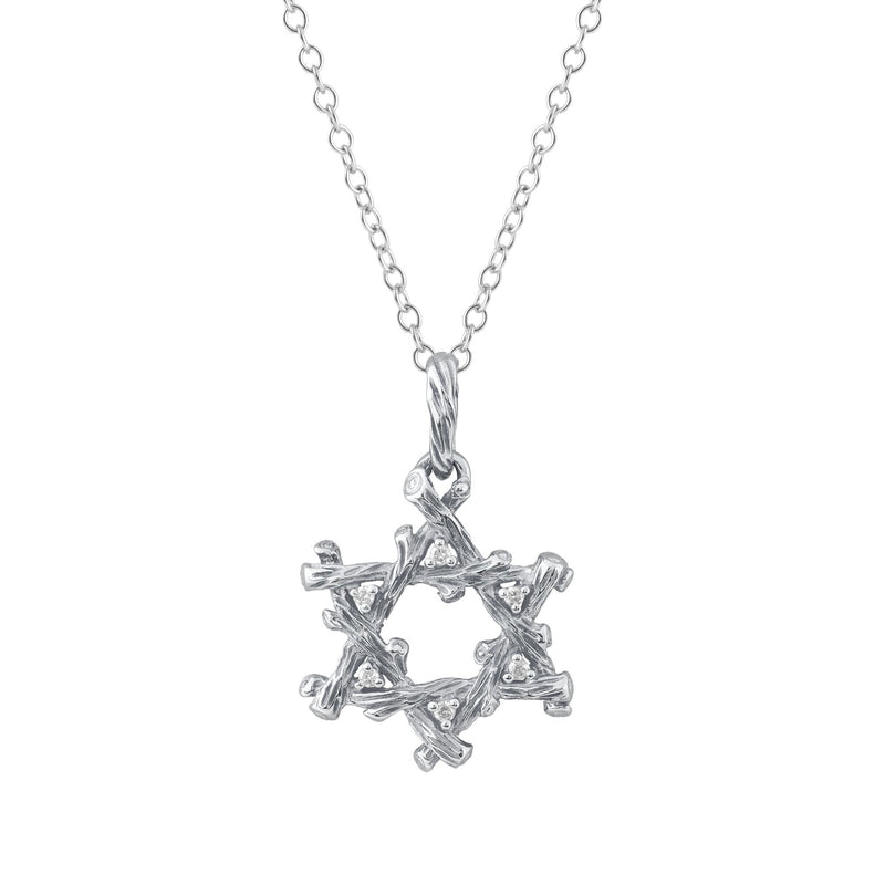Michael Aram Enchanted Forest Star of David Pendant Necklace with Diamonds