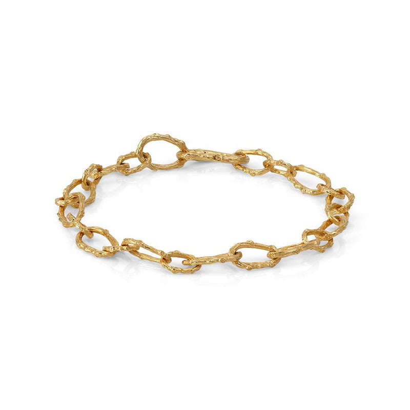 Michael Aram Enchanted Forest Twig Link Bracelet in 18K Yellow Gold
