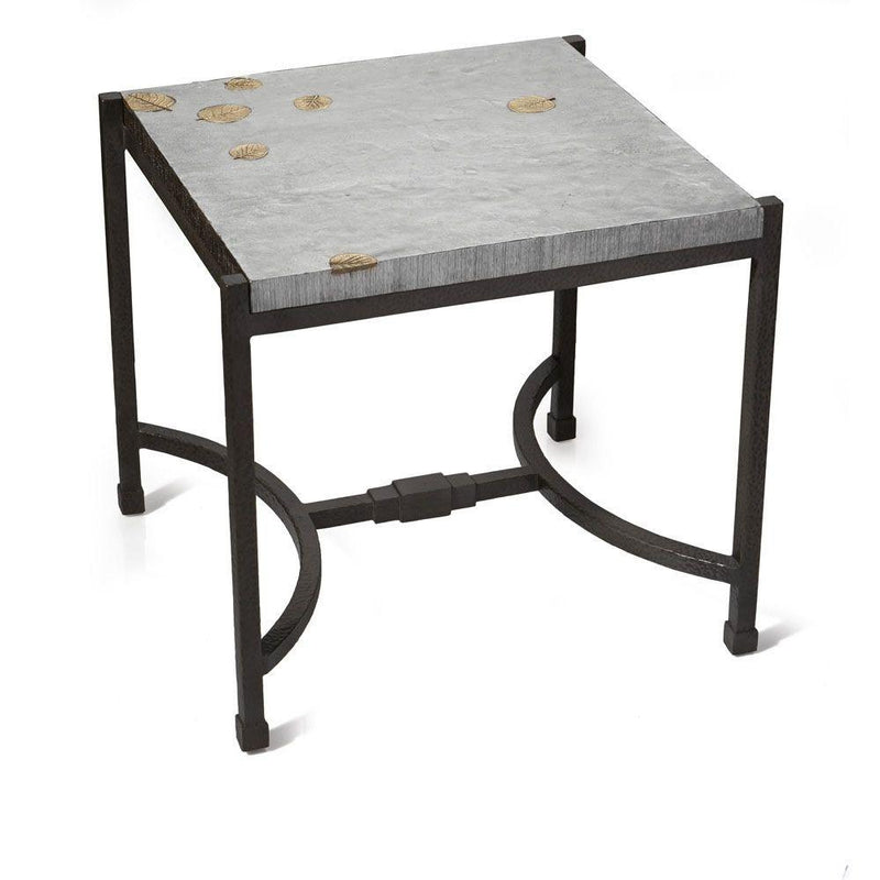 Michael Aram Fallen Leaves Square Side Table
