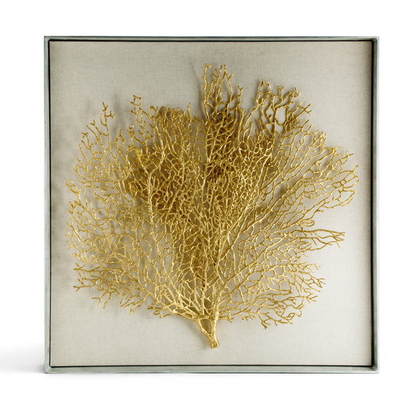Michael Aram Fan Coral Large Fabric Shadow Box