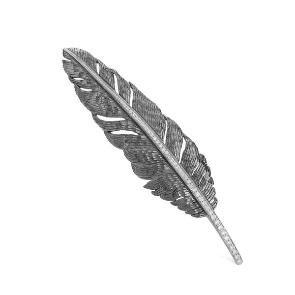 Michael Aram Feather Brooch with Diamonds