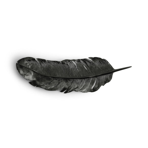 Michael Aram Feather Tray Black