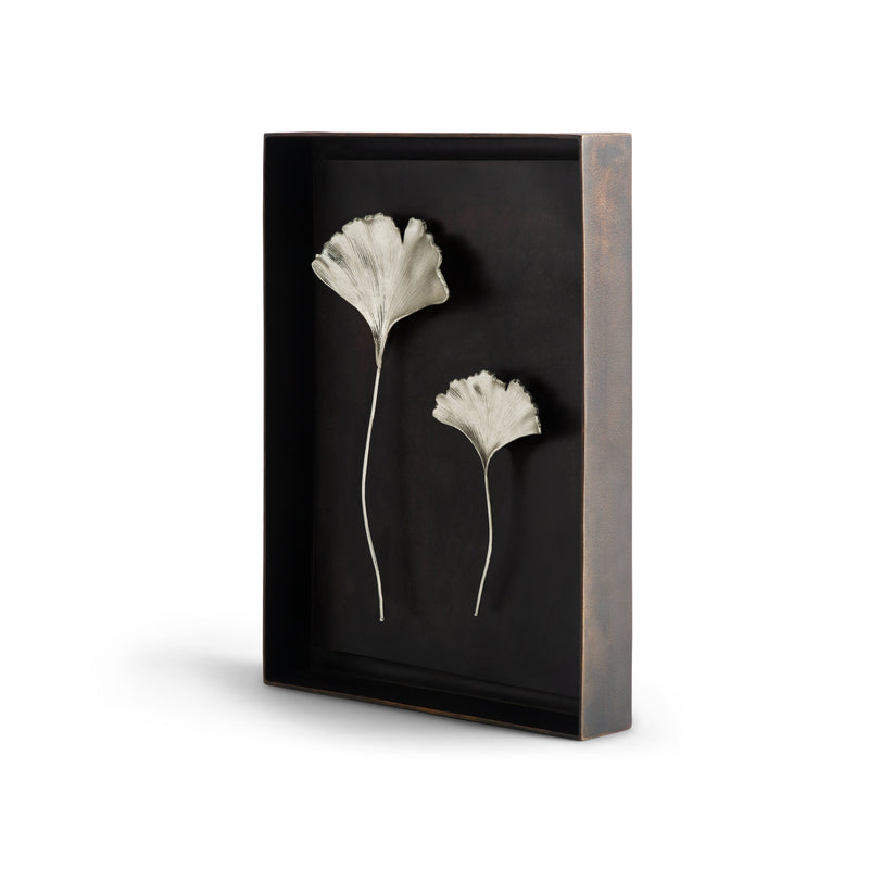 Michael Aram Ginkgo Leaf Shadow Box Antique Nickel
