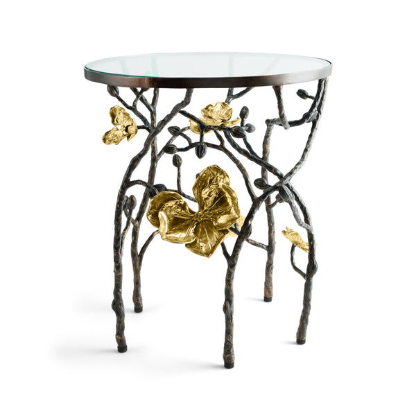Michael Aram Gold Orchid Accent Table