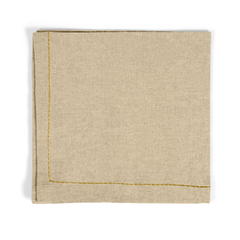 Michael Aram Gold Thread Saddlestitch Dinner Napkin