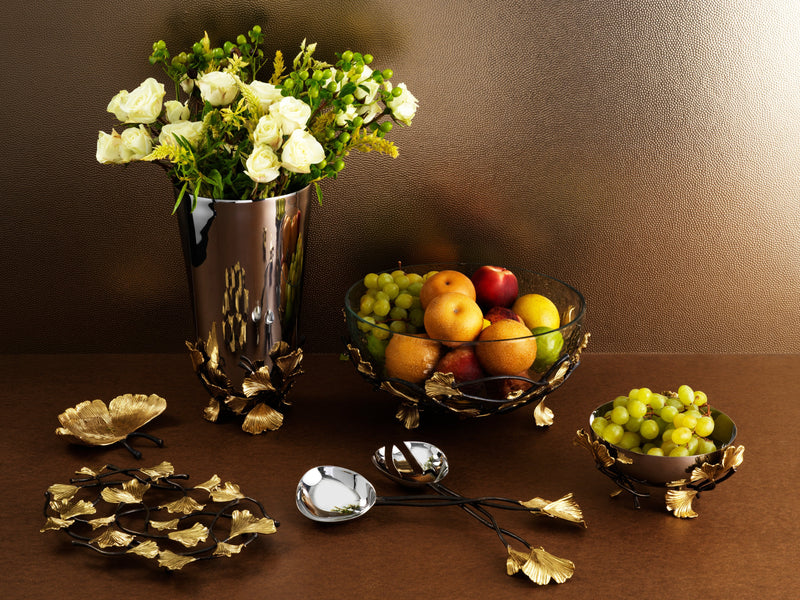 Michael Aram Golden Ginkgo Serving Set