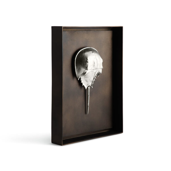 Michael Aram Horseshoe Crab Shadow Box - Antique Nickel