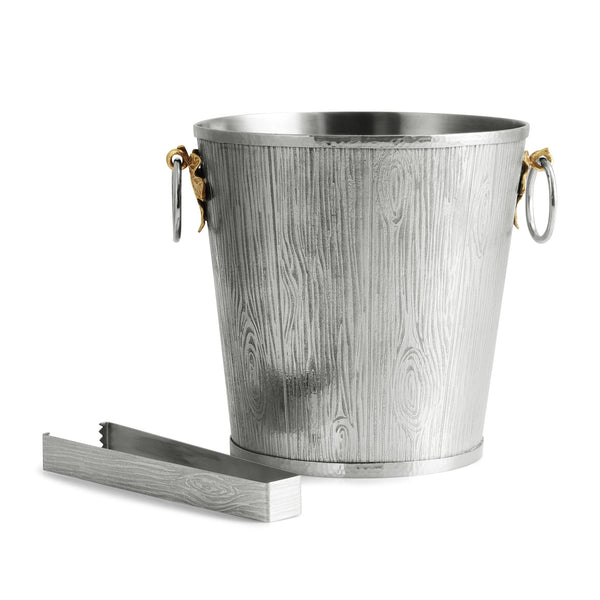 Michael Aram Ivy & Oak Bucket w/ Tongs