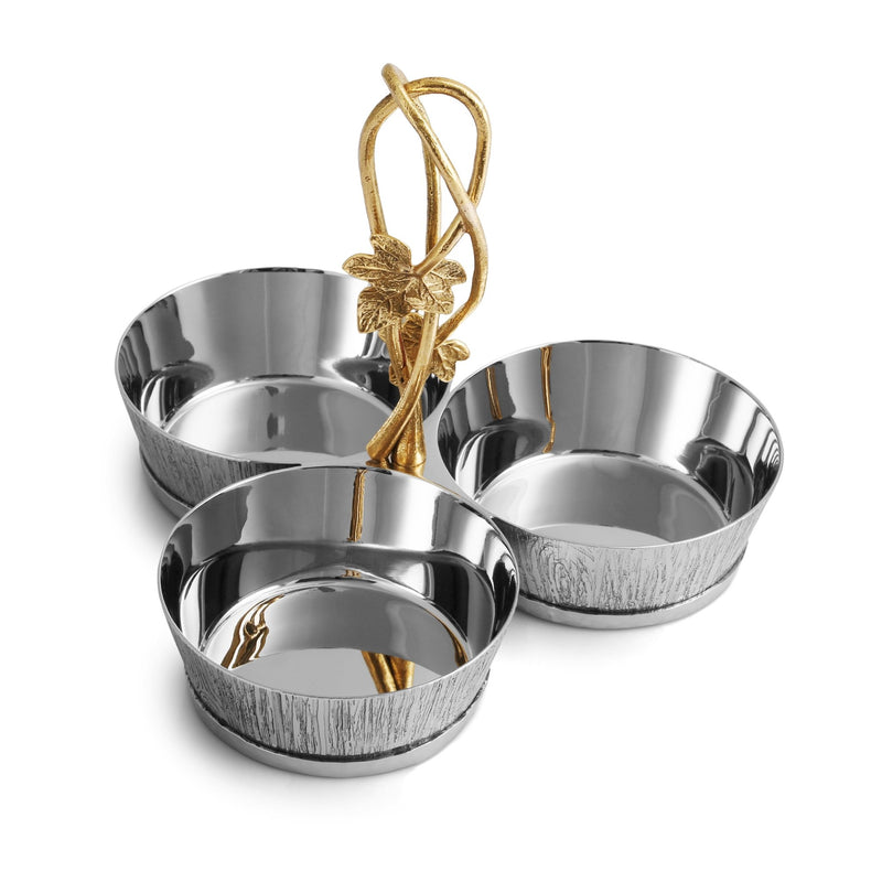 Michael Aram Ivy & Oak Triple Dish Set