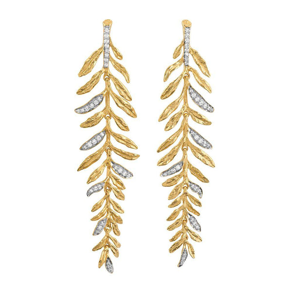 Michael Aram Laurel Chandelier Earrings with Diamonds