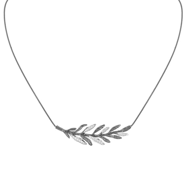 Michael Aram Laurel Leaf Necklace with Diamonds