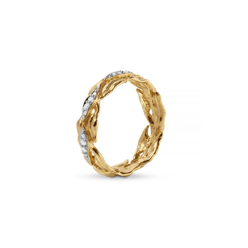 Michael Aram Laurel Ring with Diamonds