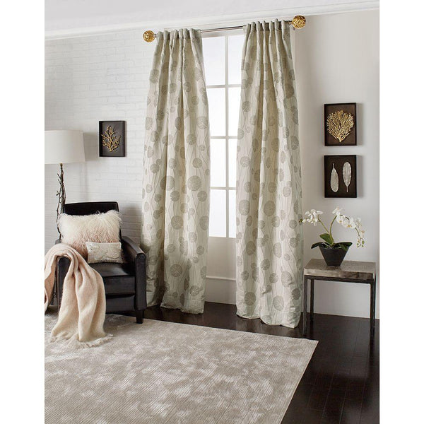 Michael Aram Lily Pad Back Tab Curtain - Champagne