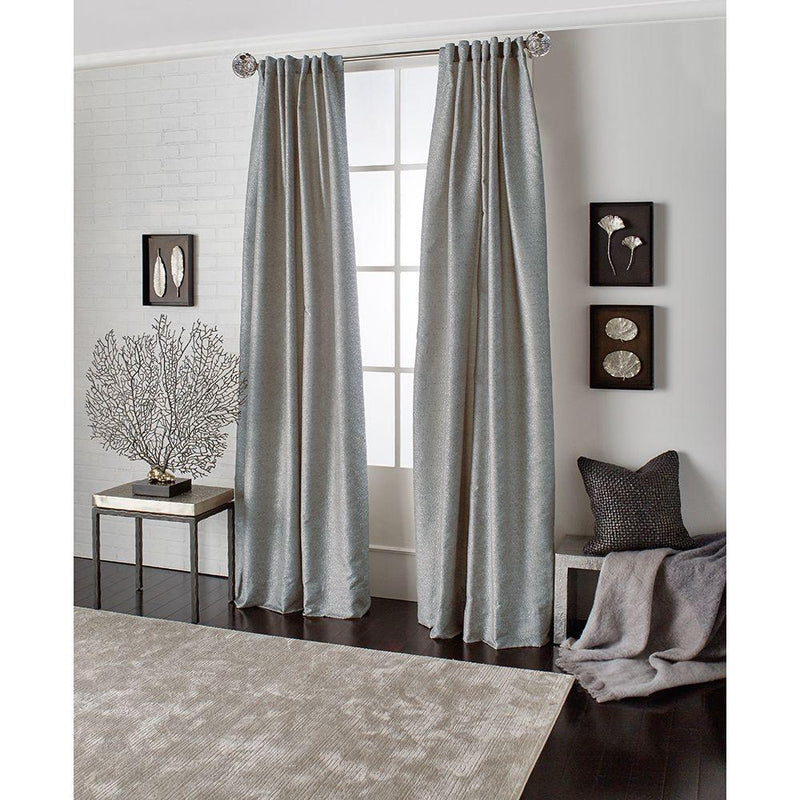 Michael Aram Mantaray Back Tab Curtain - Silver