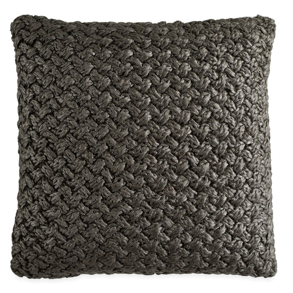 Michael Aram Metallic Knit Decorative Pillow - Charcoal