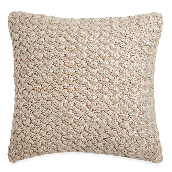 Michael Aram Metallic Knit Decorative Pillow - Linen