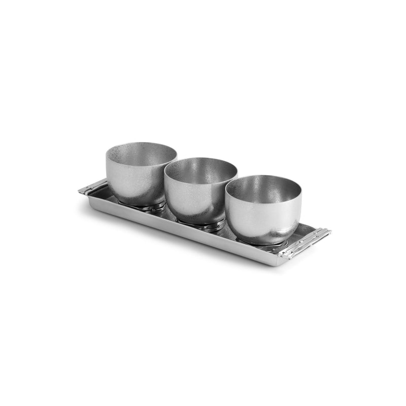 Michael Aram Mirage Triple Bowl Set w/ Tray