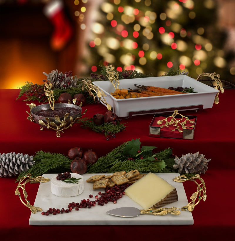 Michael Aram Mistletoe Cheese Board w/ Spreader