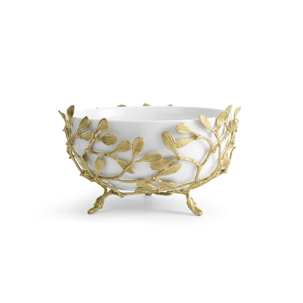 Michael Aram Mistletoe Porcelain Serving Bowl