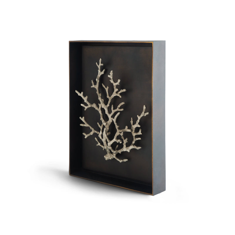 Michael Aram Ocean Coral Shadow Box Antique Nickel