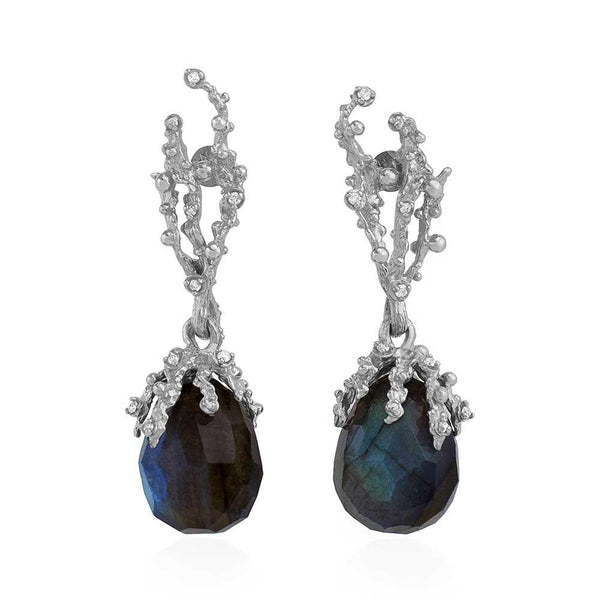 Michael Aram Ocean Earrings with Labradorite and Diamonds